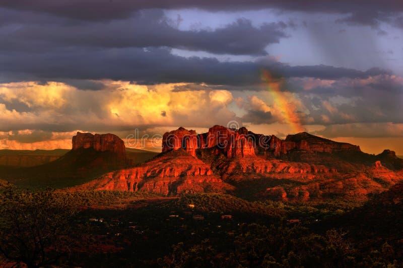Zonsondergang in Sedona royalty-vrije stock afbeeldingen