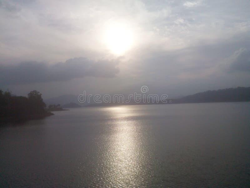 Zonsondergang in Shillong royalty-vrije stock foto's