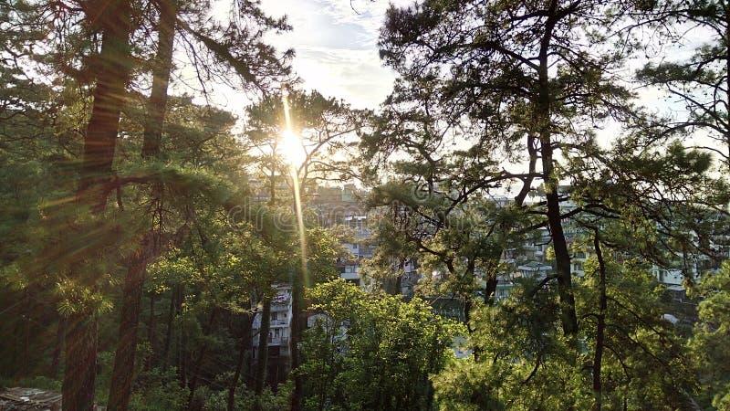 Zonsondergang in Shillong royalty-vrije stock fotografie