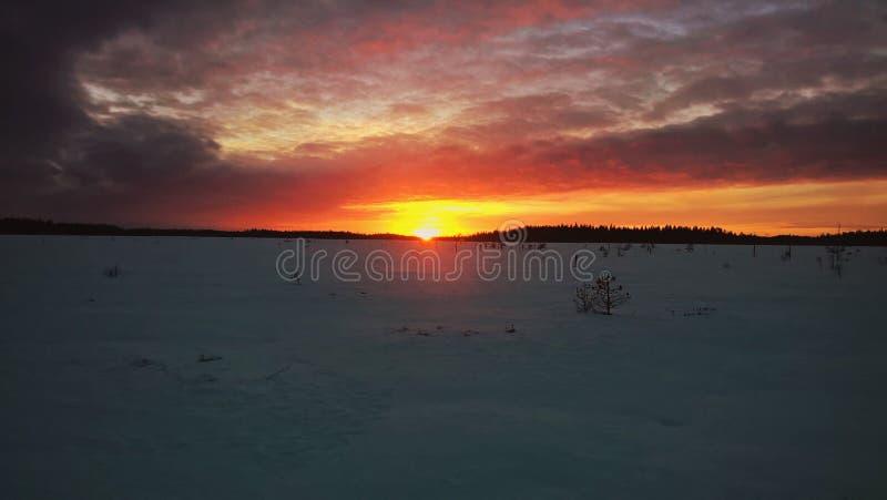 Zonsondergang in Susisuo royalty-vrije stock foto's