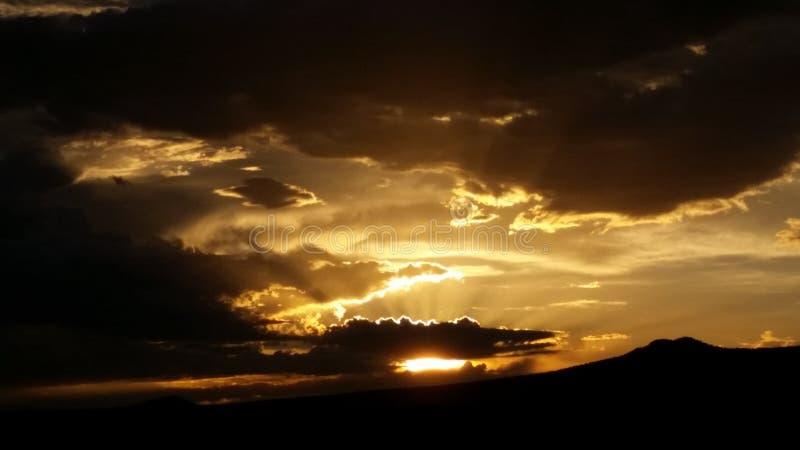 Zonsondergang in Taos NM stock afbeelding