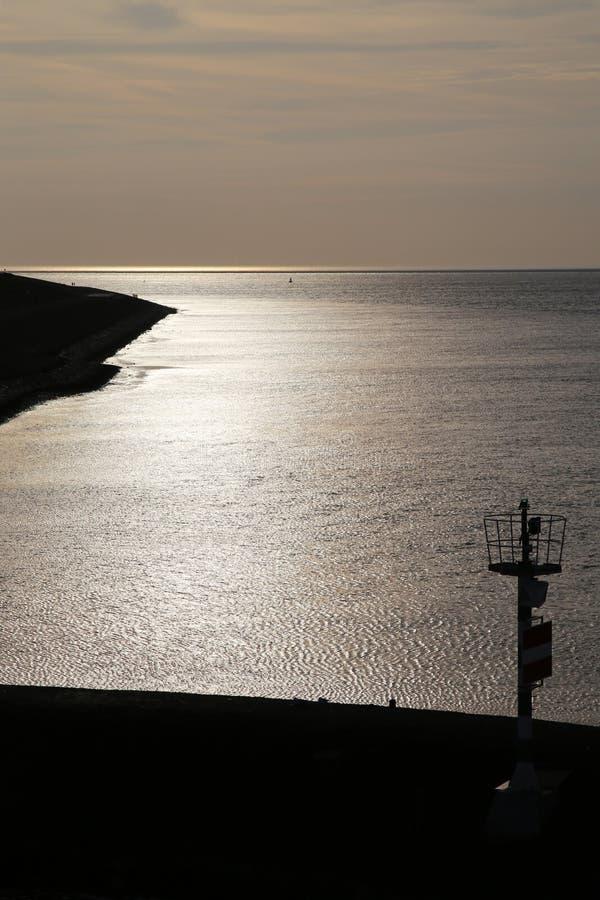 Zonsondergang Texel - 2 stock foto