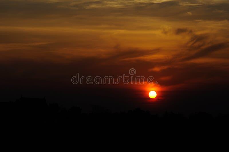 Zonsondergang Thailand stock fotografie
