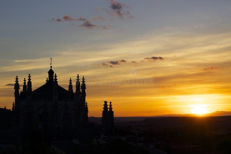 Zonsondergang in Toledo royalty-vrije stock afbeelding
