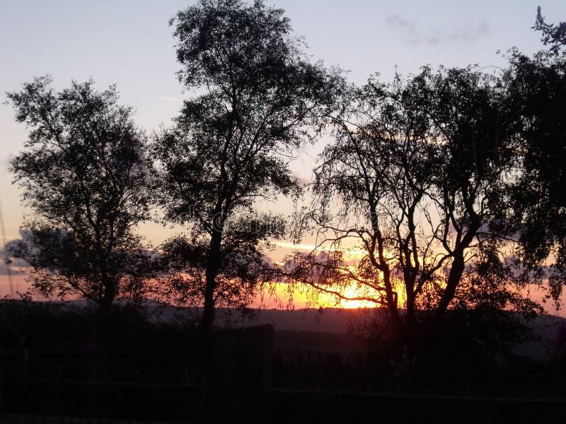 Zonsondergang van Capel Iwan stock afbeeldingen