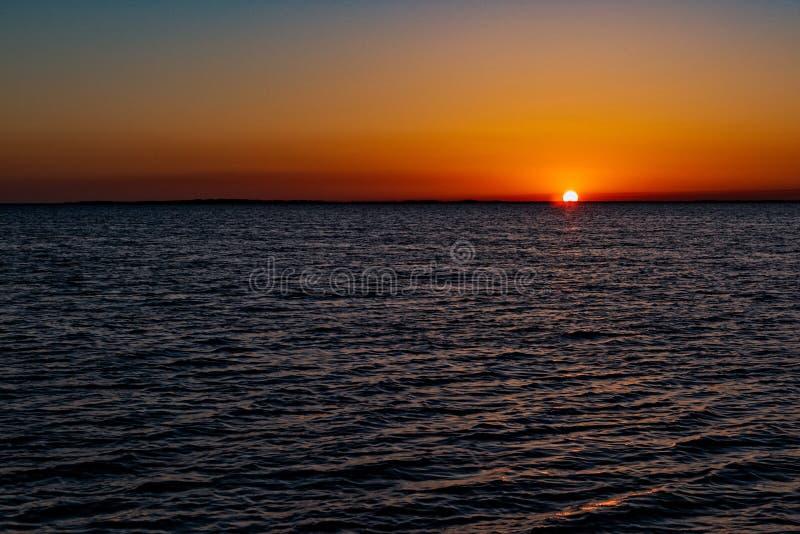 Zonsondergang van de Kust van Zeer belangrijke Largo stock fotografie