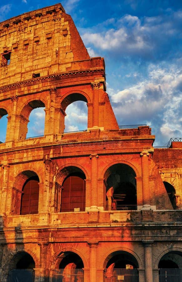 Zonsondergang van Rome Colosseum royalty-vrije stock foto's