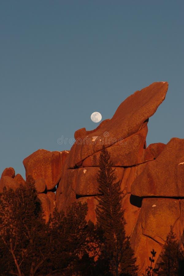 Zonsondergang, Vedauwoo, #3a stock afbeeldingen
