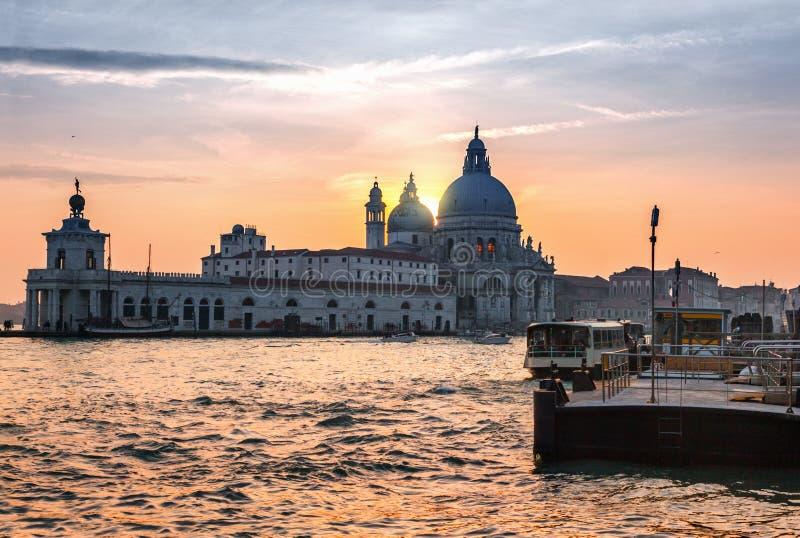 Zonsondergang in Venetië royalty-vrije stock foto