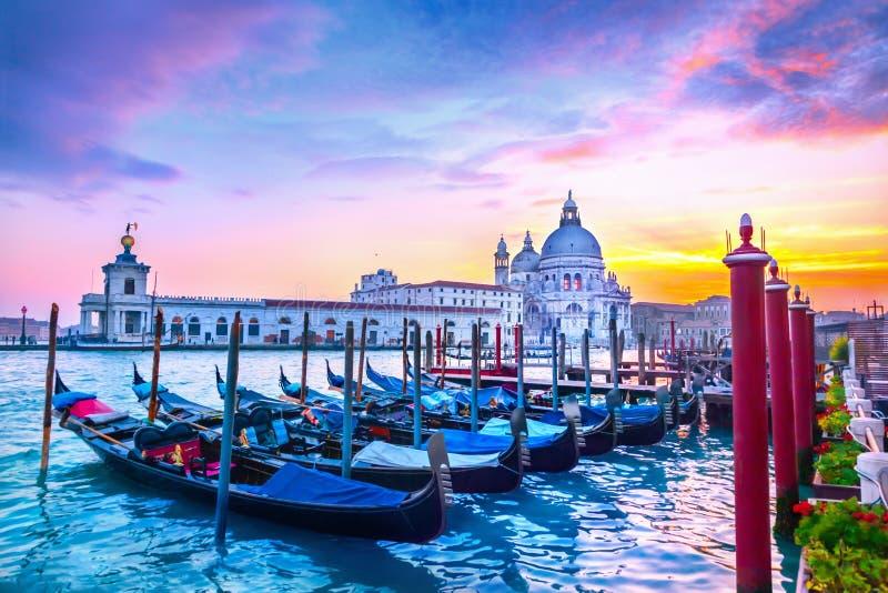 Zonsondergang in Venetië stock afbeeldingen