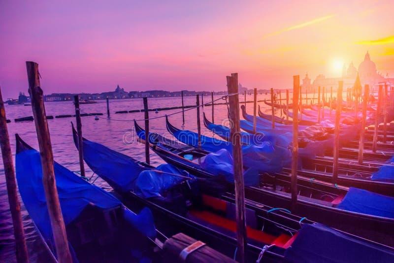 Zonsondergang in Venetië royalty-vrije stock afbeeldingen