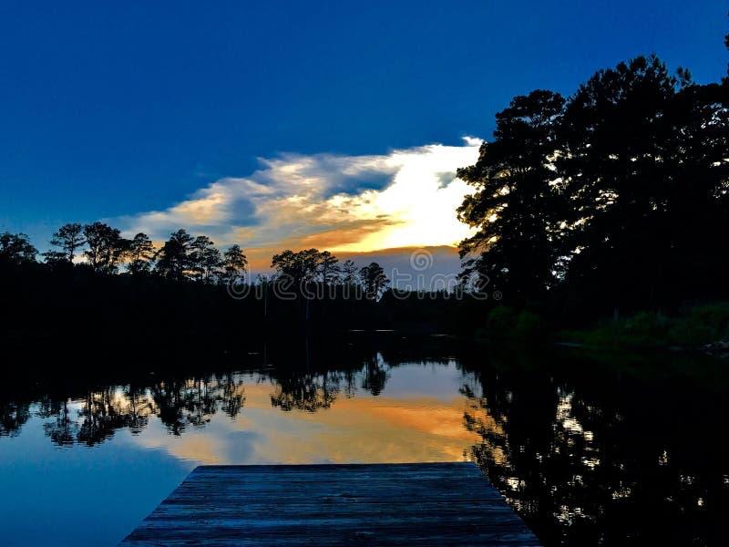 Zonsondergang vibe stock afbeelding