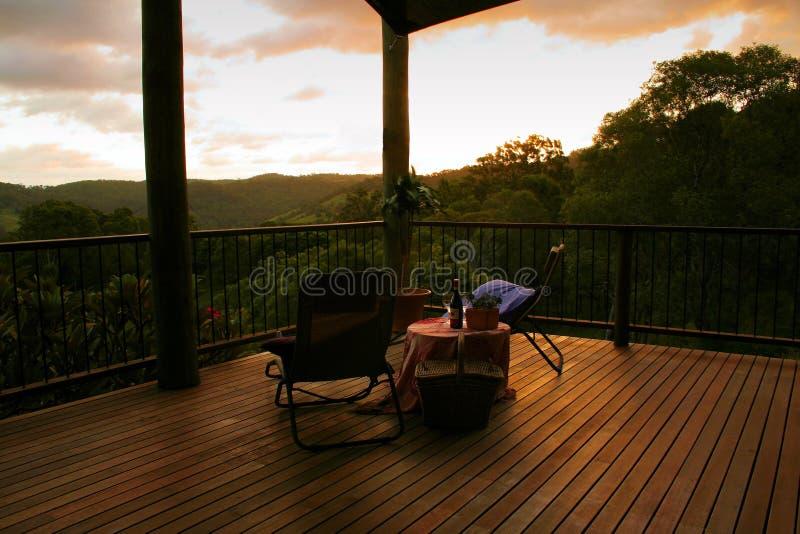 Zonsondergang voor Twee stock foto's