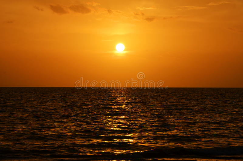 Zonsondergang in Zeer belangrijk Largo Florida stock foto