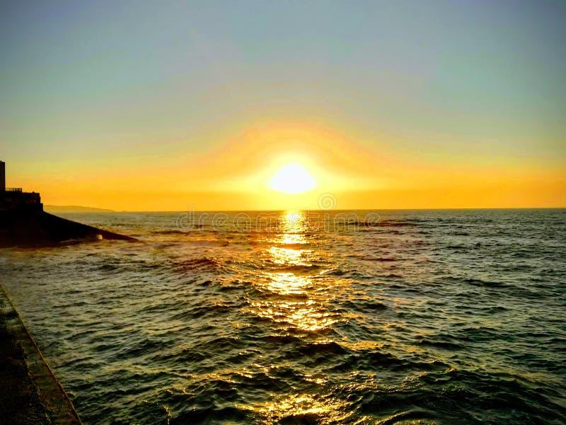 Zonsondergang in Zokoa royalty-vrije stock afbeeldingen