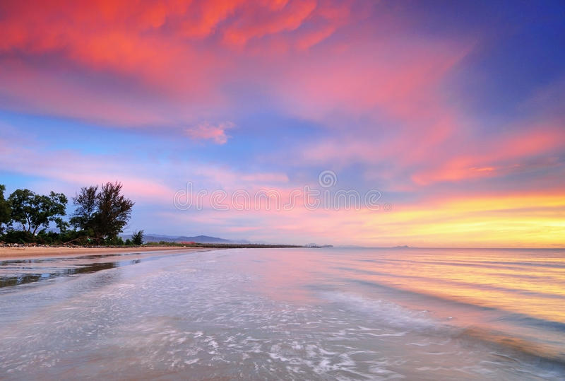 Zonsondergangachtergrond stock foto's
