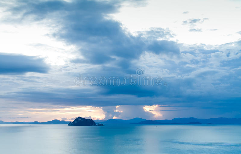 Zonsondergangblauw royalty-vrije stock foto
