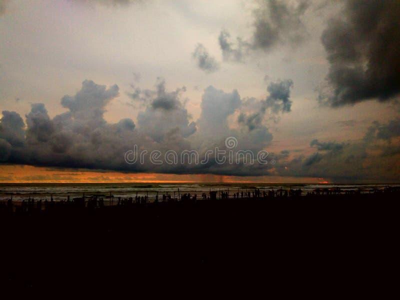 Zonsonderganglijn royalty-vrije stock foto's