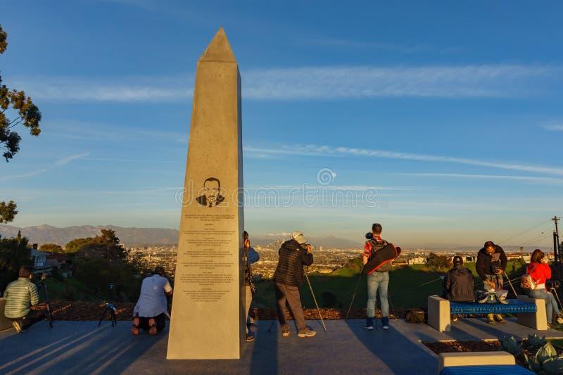 Zonsondergangmening van Martin Luther King Jr-monument royalty-vrije stock foto
