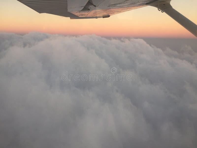 Zonsondergangperspectieven stock afbeeldingen