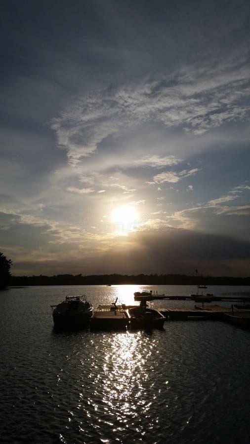 Zonsondergangschoonheid stock foto