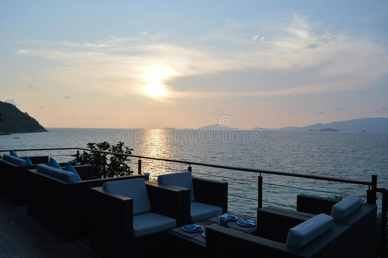 Zonsondergangstrand Koh Lipe Thailand stock fotografie