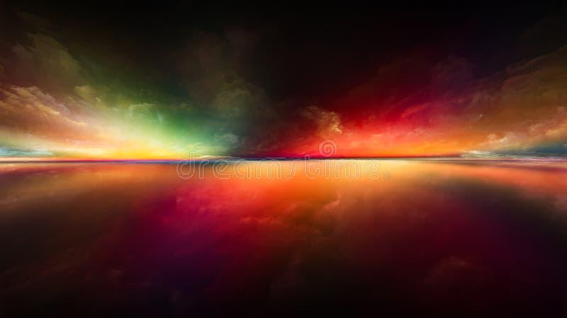 Zonsonderganguitbarsting stock illustratie