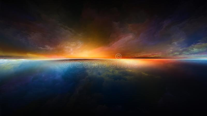 Zonsonderganguitbarsting vector illustratie