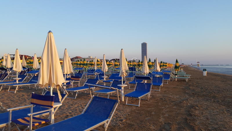 Zonsopgang in Adria Sea stock afbeelding