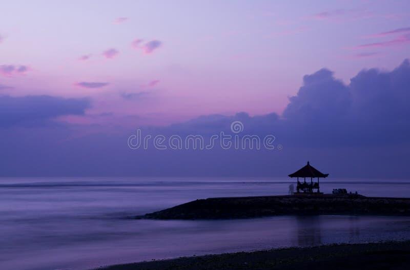 Zonsopgang in Bali royalty-vrije stock foto's