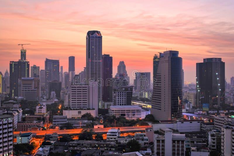 Zonsopgang in Bangkok royalty-vrije stock afbeeldingen