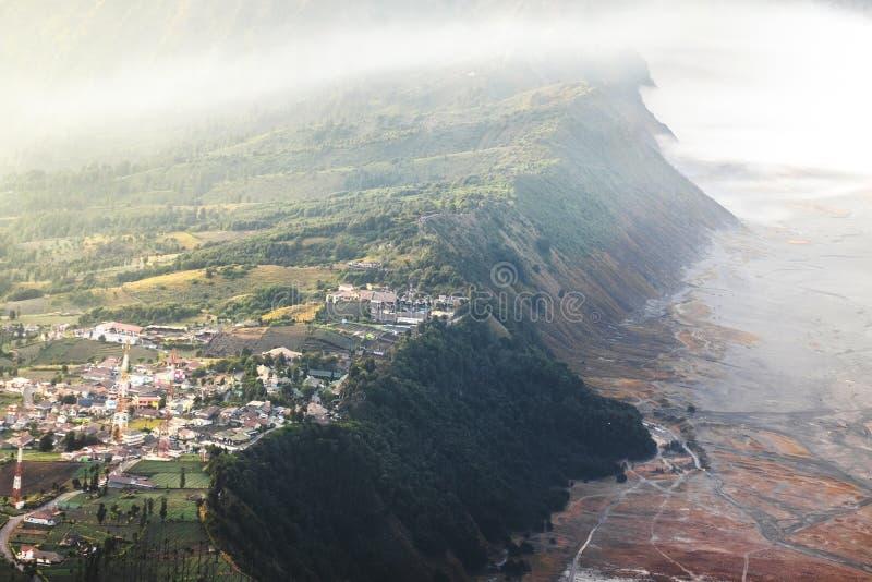 Zonsopgang bij vulkaanmt Van Oost- bromogunung Bromo Java, Indonesië royalty-vrije stock afbeelding