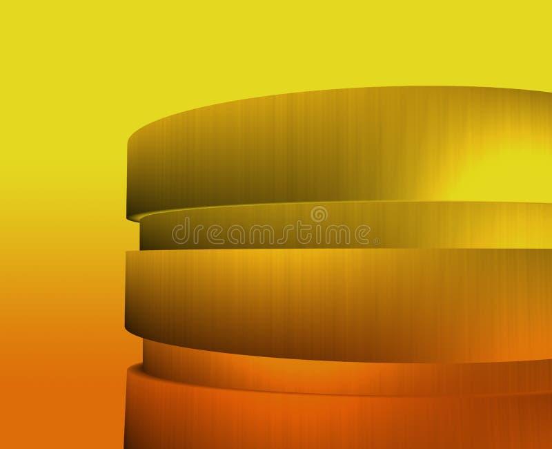 Zonsopgang cirkel de bouwillustratie vector illustratie