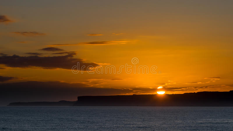 Zonsopgang in de Baai van Santander stock fotografie