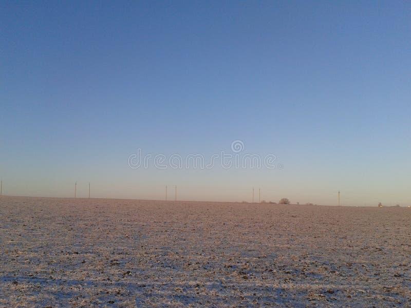 Zonsopgang in de winter buiten Belgorod royalty-vrije stock foto's