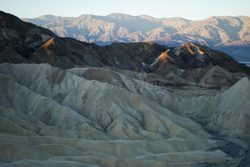 Zonsopgang in de woestijn, Californië stock foto