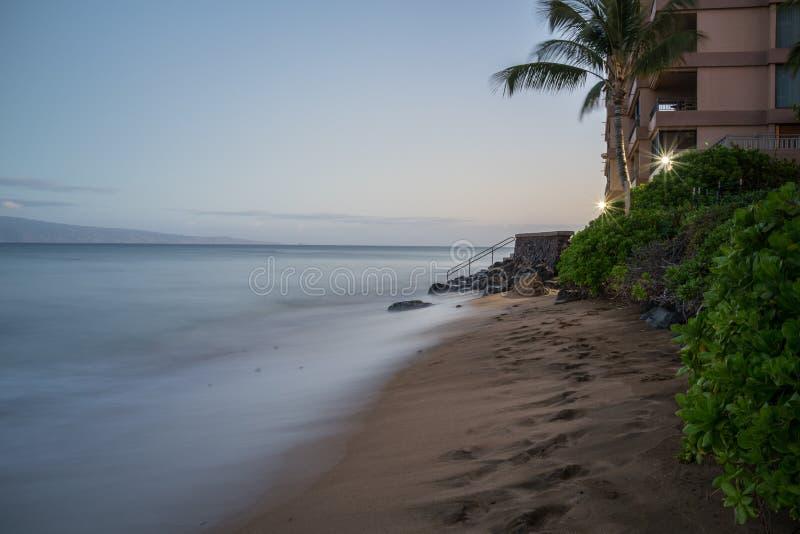Zonsopgang in Hawaï royalty-vrije stock foto