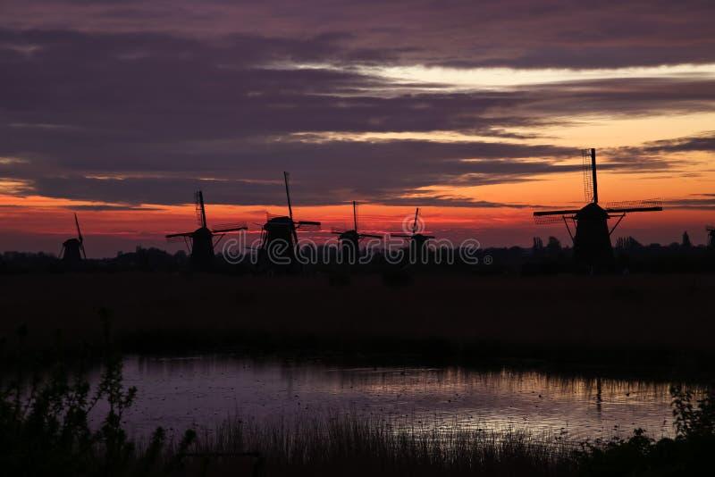 Zonsopgang in Holand stock fotografie