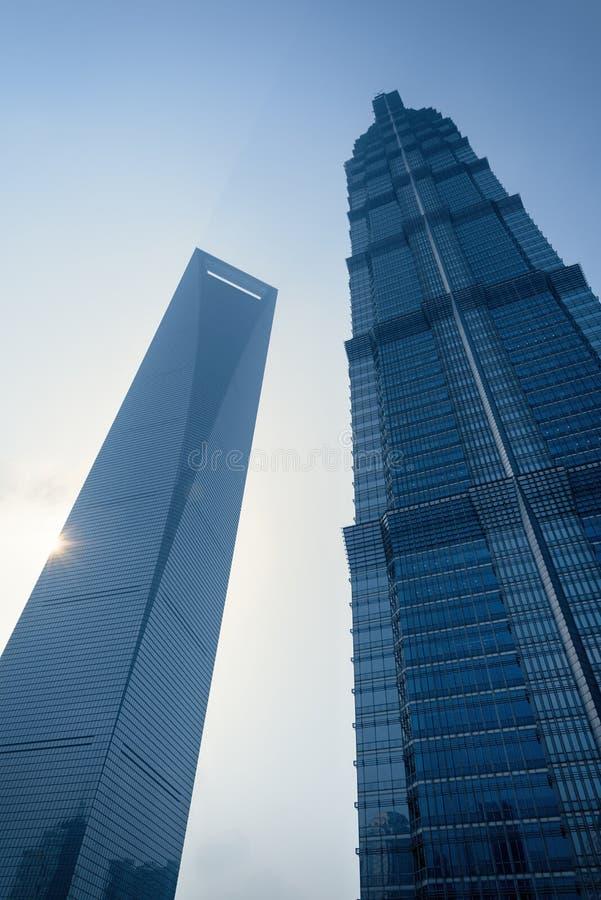 Zonsopgang in Lujiazui, Shanghai - China stock afbeeldingen