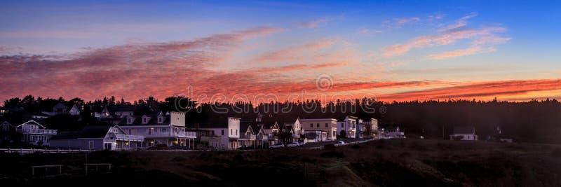 Zonsopgang in noordelijk Californië stock afbeeldingen