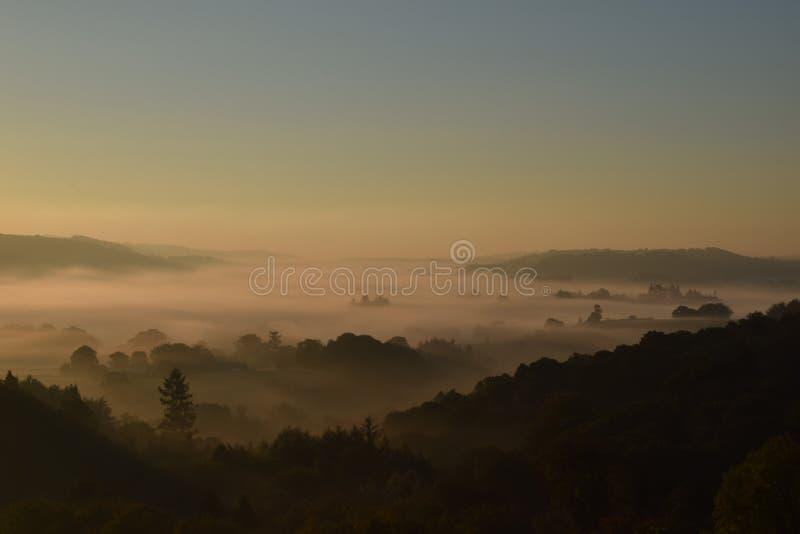 Zonsopgang op Dartmoor royalty-vrije stock afbeelding