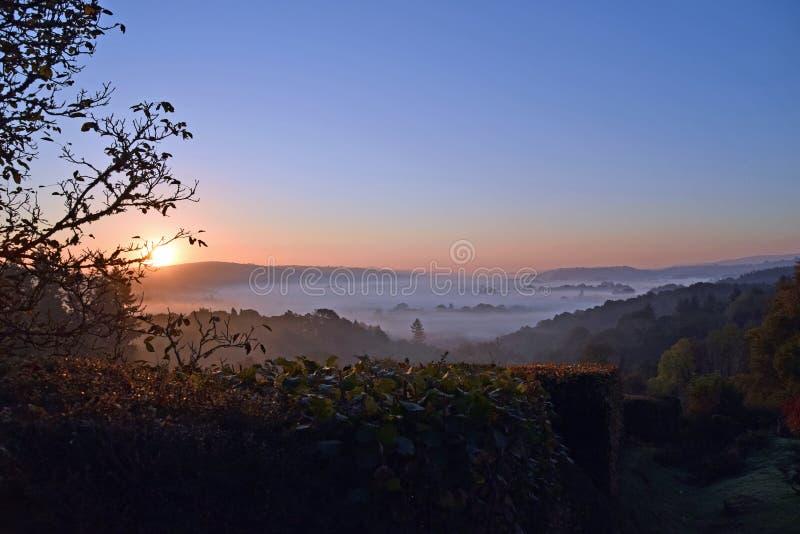Zonsopgang op Dartmoor stock foto