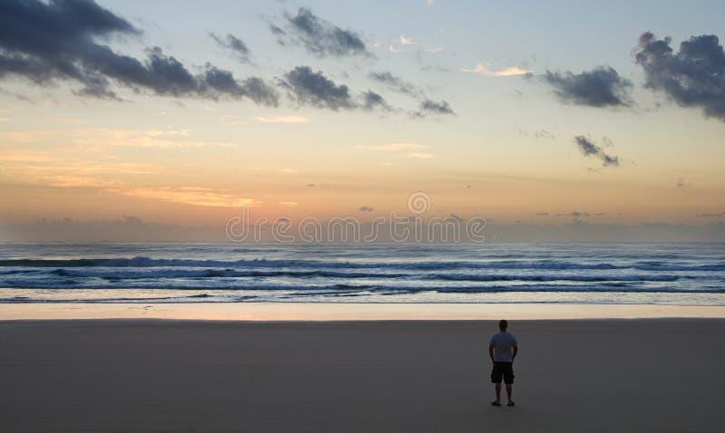 Zonsopgang op Fraser Eiland, Zuidelijk Queensland, stock foto