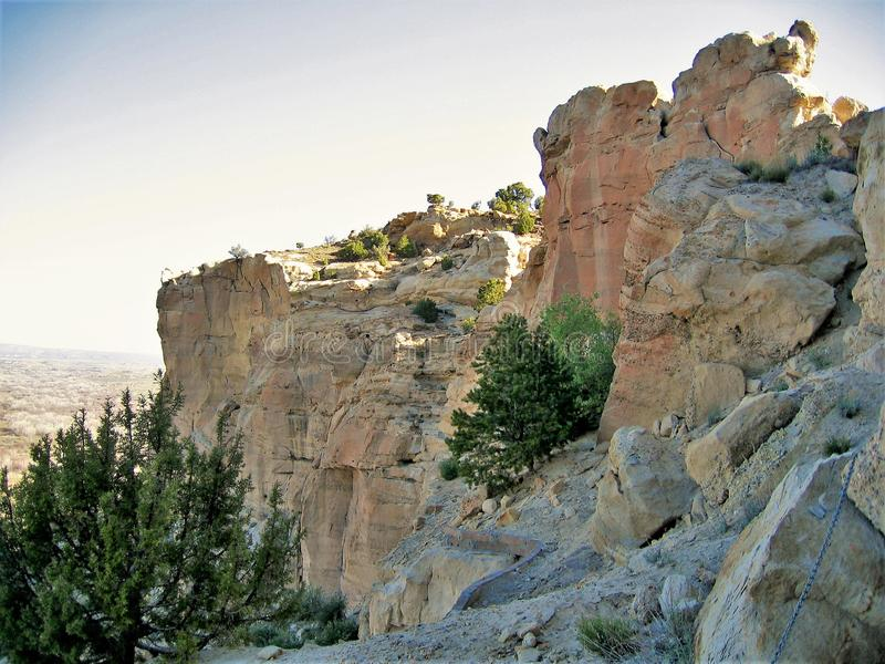 Zonsopgang op Klippen in Farmington, New Mexico royalty-vrije stock foto's