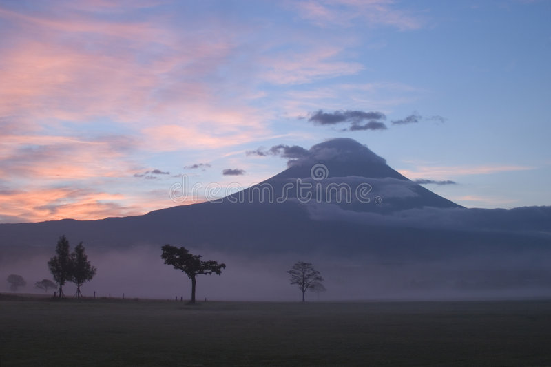 Zonsopgang op Onderstel Fuji stock foto's