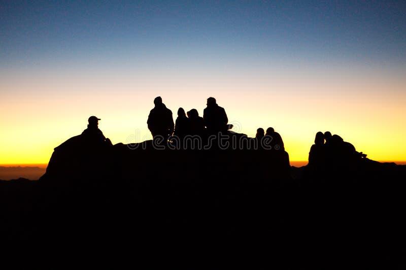 Zonsopgang op Onderstel Sinai, Egypte stock afbeelding