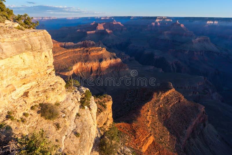 Zonsopgang op Pima-Punt van Grand Canyon, Zuidenrand, Arizona, de V.S. royalty-vrije stock foto's