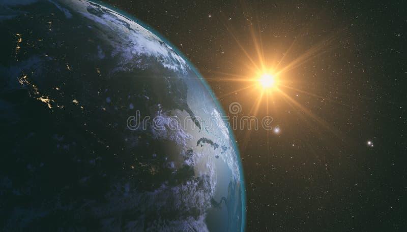 Zonsopgang over Aarde royalty-vrije stock foto's
