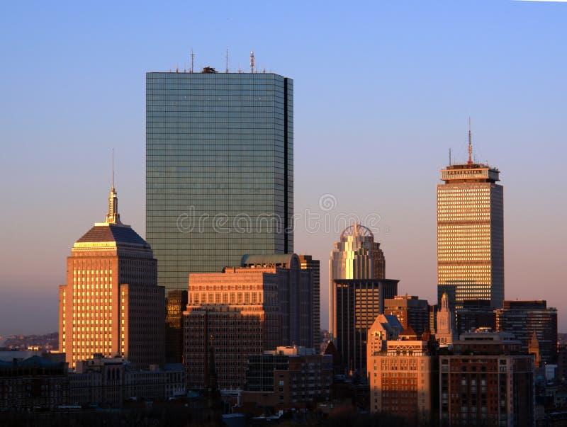 Zonsopgang over Boston royalty-vrije stock foto's