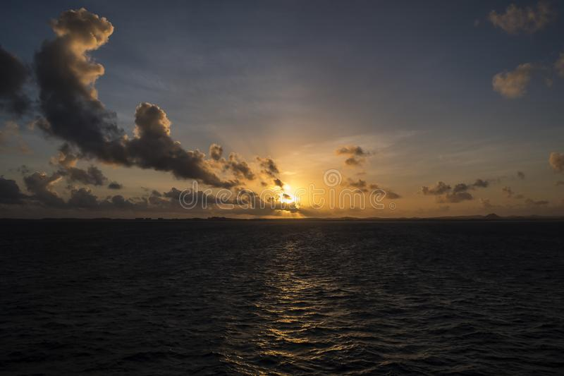 Zonsopgang over de Caraïbische Zee #3 stock foto's